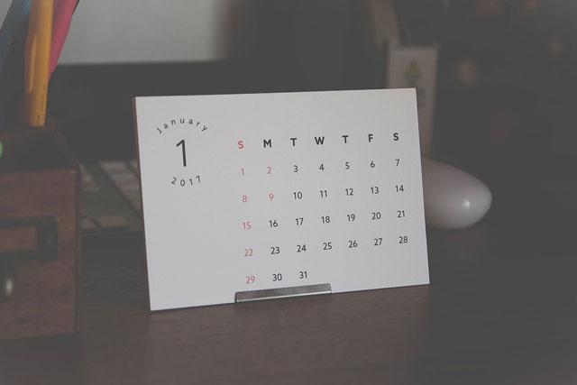 プリンターで作る。卓上カレンダー無料ダウンロード