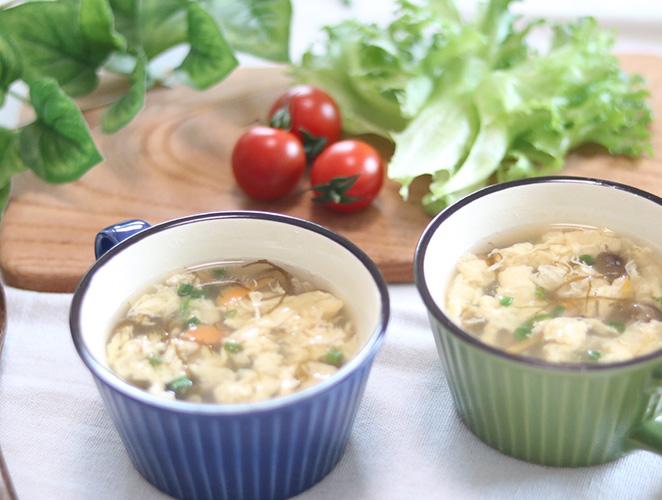梅ともずくのスープ