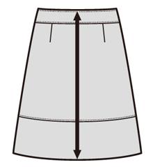 スカート前総丈