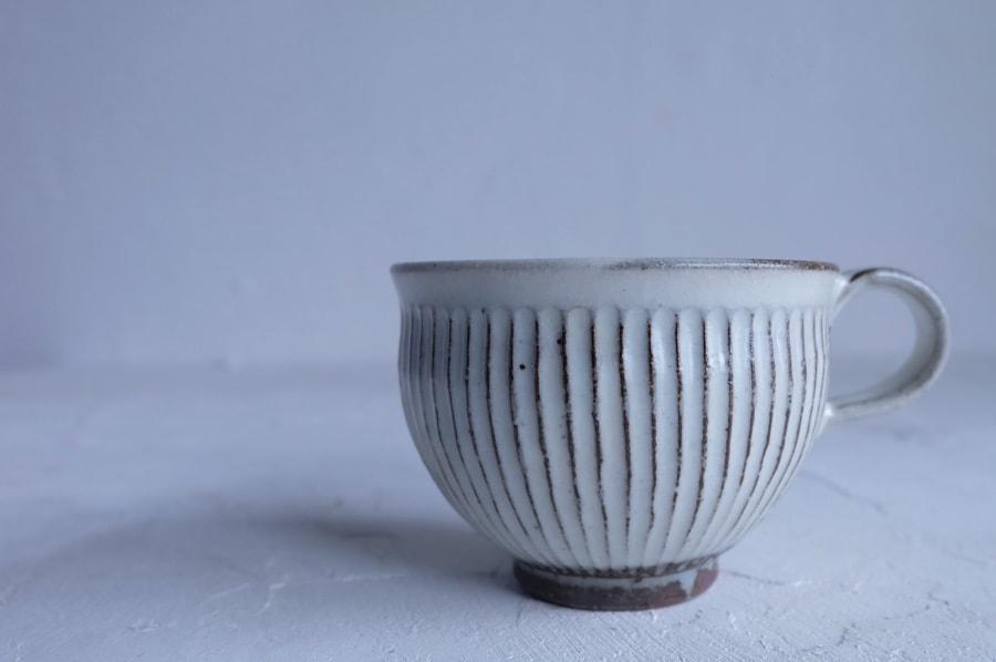 戸津圭一郎さんの鎬のコーヒーカップ