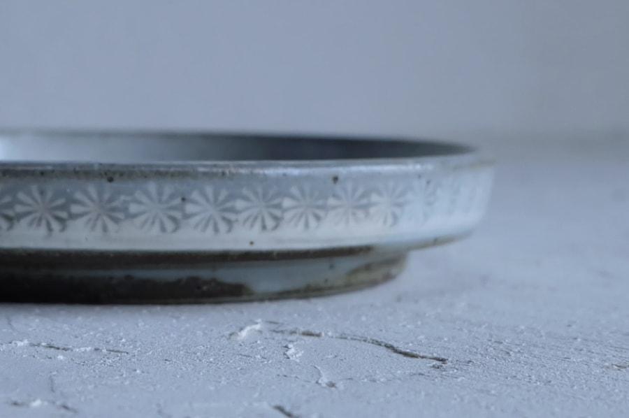 戸津圭一郎さんの三島切立五寸皿