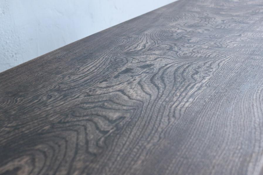 アンティークのクリ材の和のデザインのコーヒーテーブル