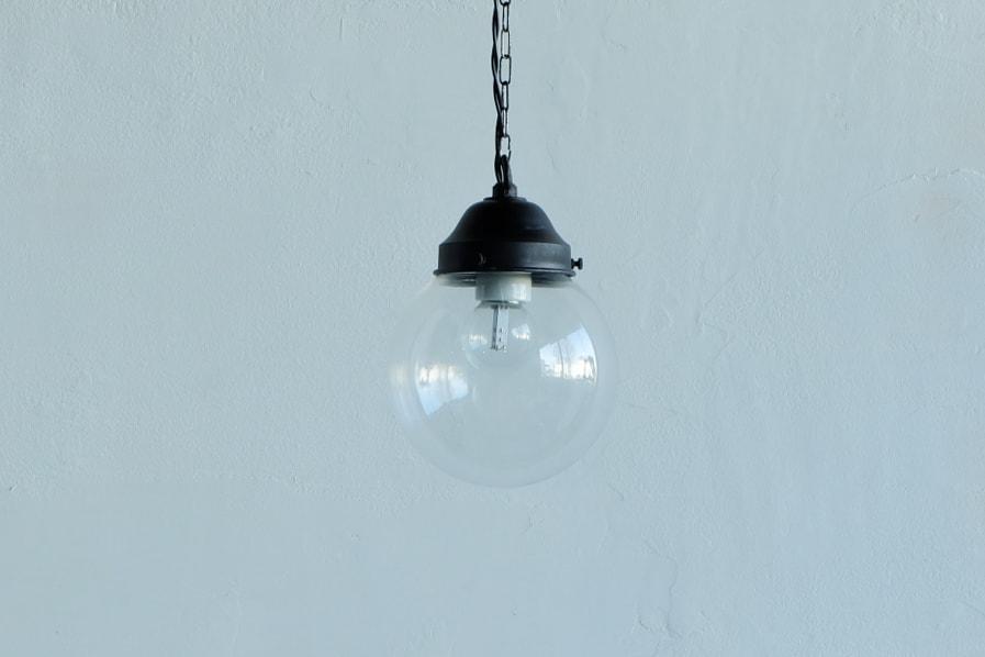 日本のアンティーク調の透明ガラスの照明