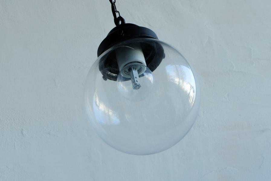 和のアンティーク調の透明ガラスの照明