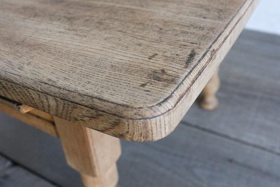 和のアンティークのシンプルなろくろ脚のコーヒーテーブル