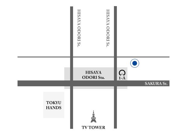 名古屋のメンズセレクトショップAlto e Dirittoのアクセスマップ