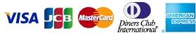 VISA JCB Mastercard DCI AMEX