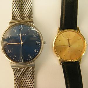 2本のSKAGEN製腕時計の電池交換