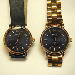 2本のマークジェイコブス製腕時計の電池交換