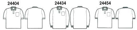 24404半袖ポロシャツの画像