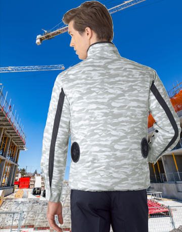 87060空調服長袖ジャケットの画像。