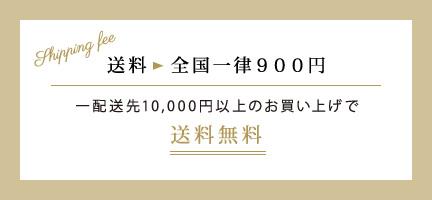 送料 全国一律900円 一配送先10,000円以上のお買い上げで送料無料