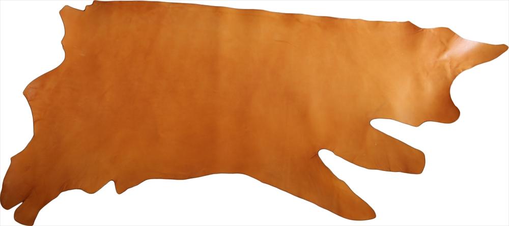 ピット層鞣しS002本ヌメ革_キャメル_半裁4651_R.jpg|革販売の和乃革