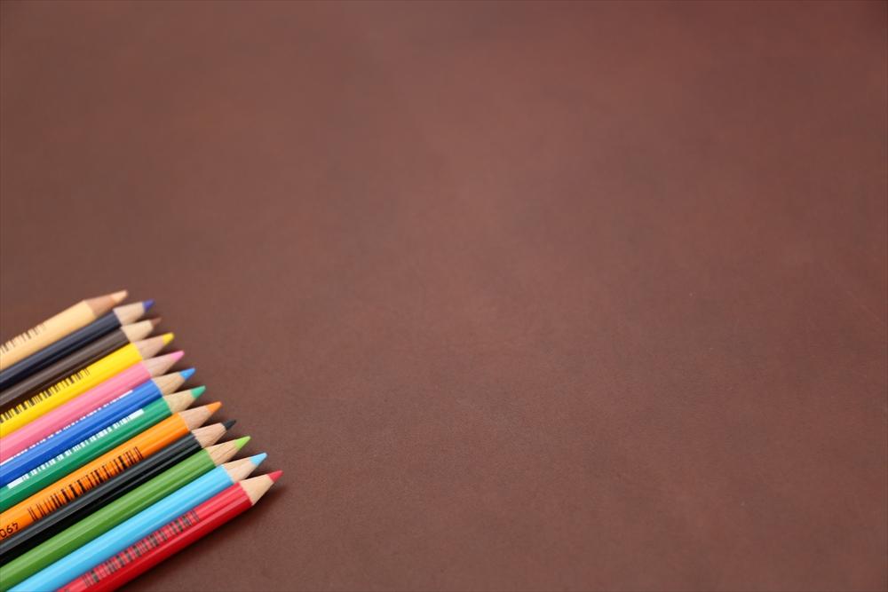 ピット層鞣しS004本ヌメ革_チョコ_色鉛筆比較4738_R.JPG|革販売の和乃革