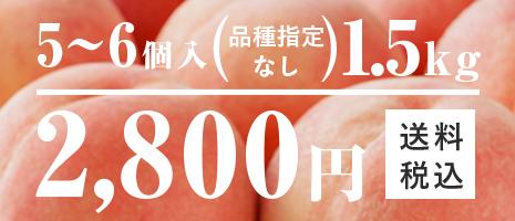 5~6個入 1.5kg 2,980円 りんご