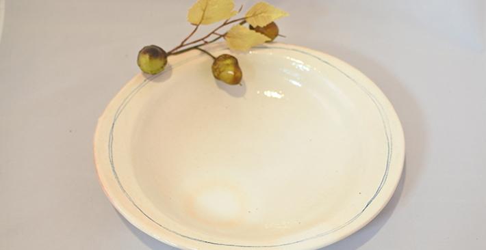 古谷製陶所ゴス線 リブ付 楕円皿