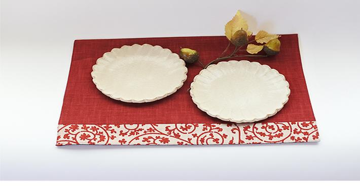 粉引の菊形豆小皿 白