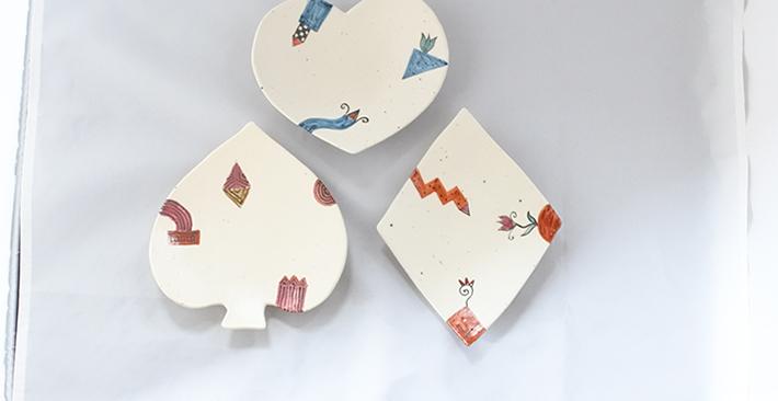 廣川みのり トランプ皿