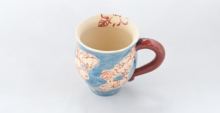 廣川みのり 山茶花ふっくらマグ
