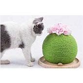猫の爪とぎ サボテン 木製ボール付き/ラモダ-ペット用品