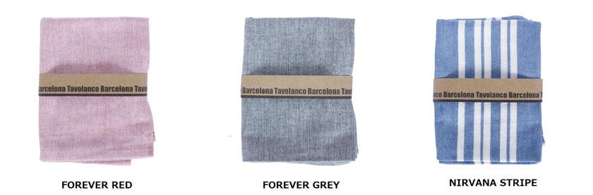 バルセロナ製の丈夫なキッチンタオルと肌にやさしい手つむぎのオーガニックタオル