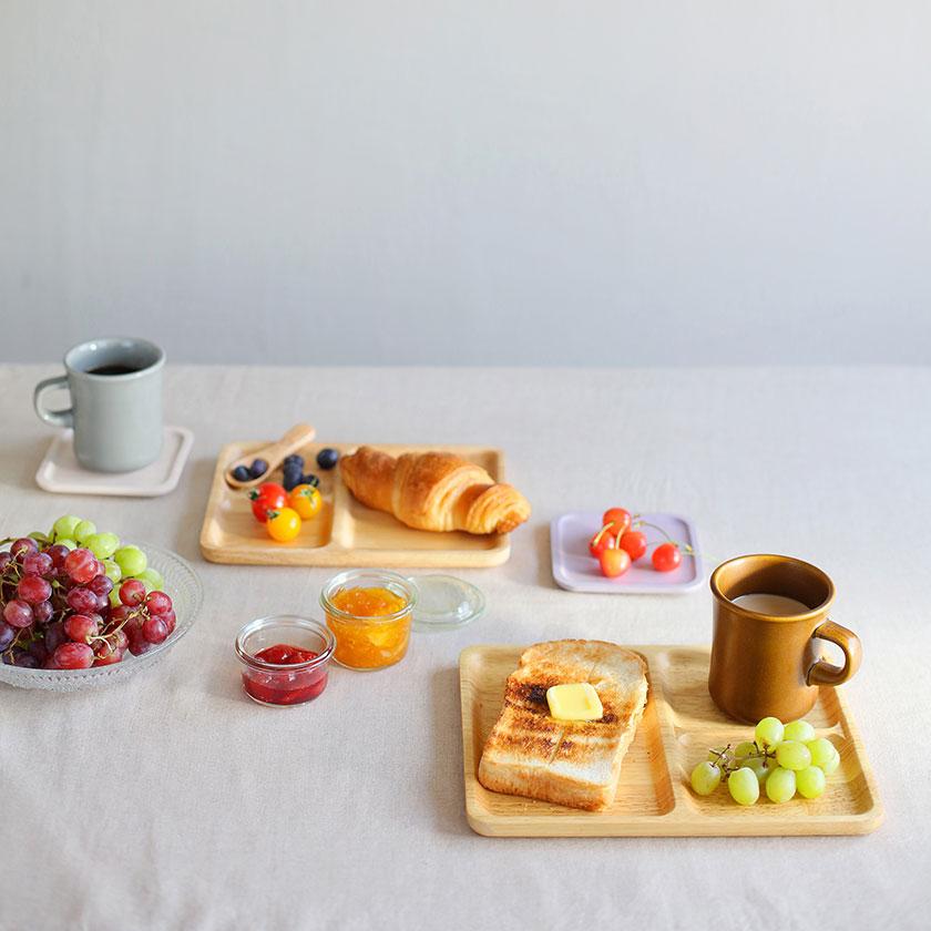 acacia CAFE PLATE SQUARE