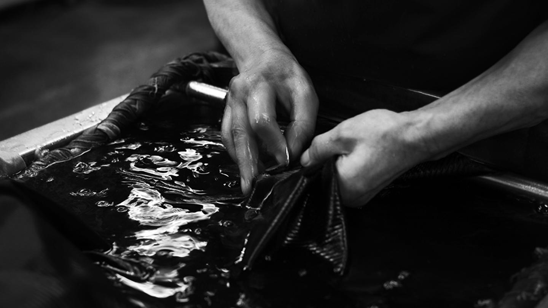 SANGOU 京都丹後ちりめん 羽織 HAORI 深黒 袷 京都紋付深黒加工