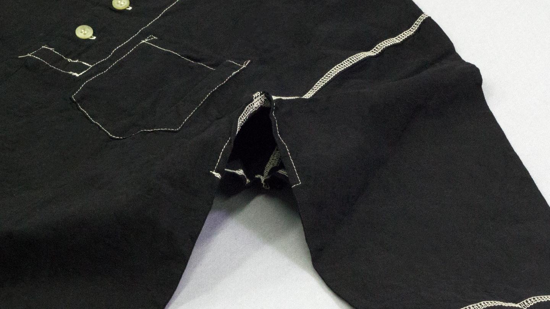 SANGOU 伊勢木綿Tシャツ 冠衣-KABURI- 深黒シリーズ 身八つ口