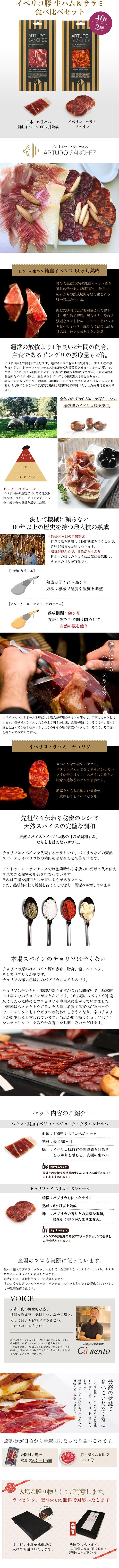 """""""イベリコ生ハムとサラミの2種食べ比べギフト"""""""