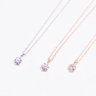 【K10 ダイヤモンド(0.07ct)ネックレス】