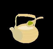 1.茶葉を入れる。