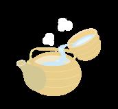 3.湯冷まししたお湯を注ぐ。