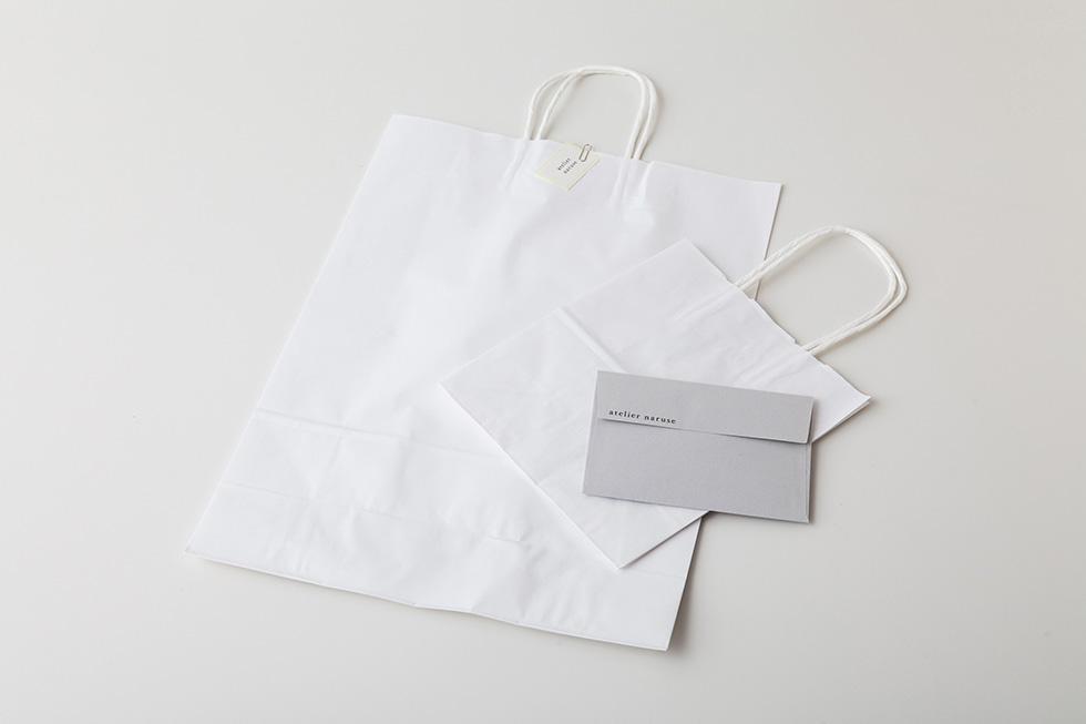 paper bag & message card/お渡し用の紙袋 & メッセージカード