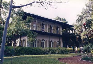 アメリカのキーウエスト島にあるヘミングウェイ・ハウス