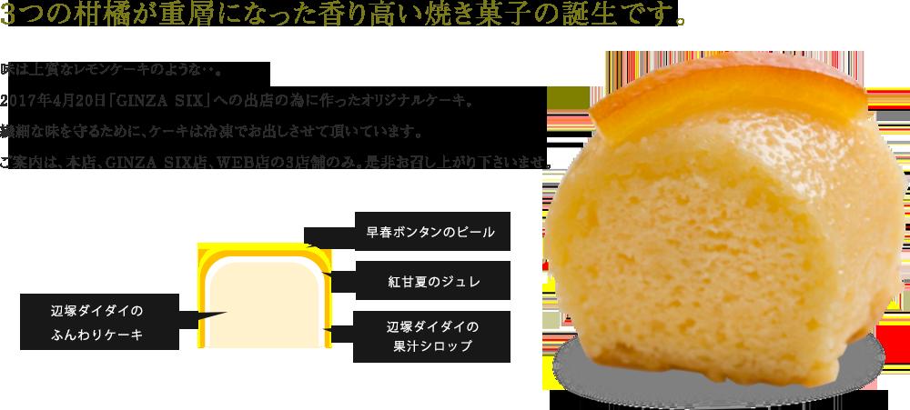 3つの柑橘が重層になった香り高い焼き菓子の誕生です。