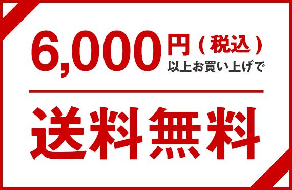6,000円(税込)以上お買い上げで送料無料