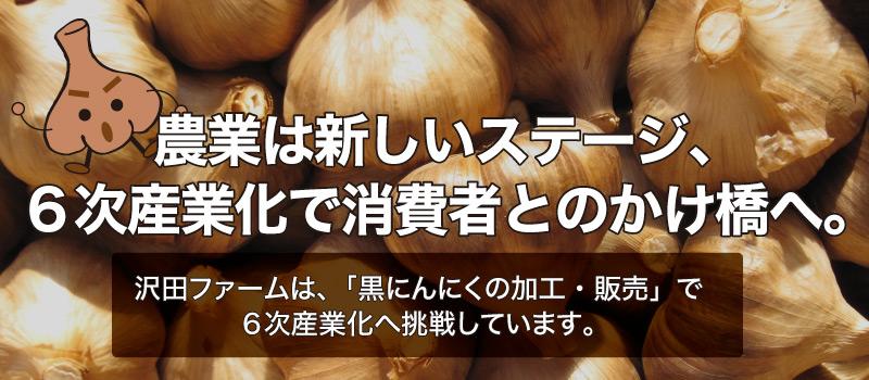 沢田ファームの「黒にんにく」は6次産業化への挑戦。
